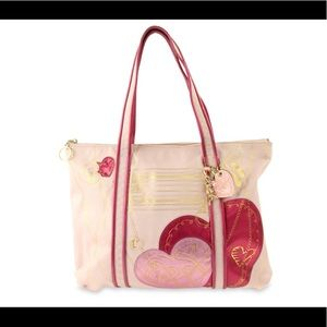 Coach Poppy Leather Pink Heart ❤️ tote